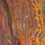 Tiger auf Rinde 2010